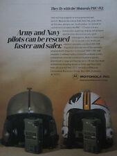 1/1990 PUB MOTOROLA PRC-112 ARMY NAVY RESCUE PILOT HELMET CASQUE ORIGINAL AD
