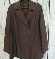Brooks Brothers Women's Size L Button Front Water Resistant Blazer Jacket Brown