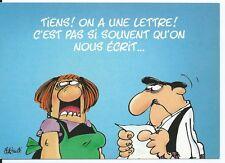 """CPM - Carte postale - Les BIDOCHON """"Tiens on a une lettre, c'est pas si ......."""""""