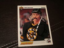 BOB SWEENEY AUTOGRAPHED 1991 UPPER DECK CARD-BRUINS