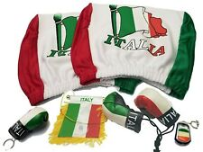 Italy Headrest Cover Flag, Italia Boxing Gloves Mini Banner Keychain Italian