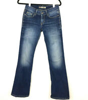 Womens BKE Culture Dark Washed Distressed Blue Jeans Size 26x31