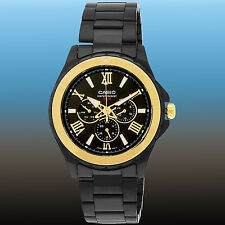 Casio Men's Black Stainless Steel Luxury Sports 100M WR Watch MTD-1075BK-1A9 New