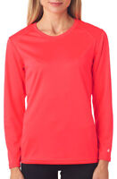 Badger Women's B Dry Core Self Polyester Double Needle Long Sleeve T Shirt. 4164