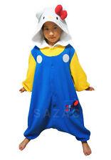 KIGURUMI SAZAC aus JAPAN Cosplay Schlafanzug onesie Kostüm HELLO KITTY blau 6-9J