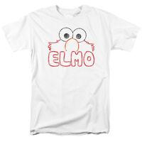 SESAME STREET ELMO LETTERS Licensed Adult Men's Graphic Tee Shirt SM-5XL