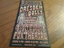 SMALL  RECENT   HANDBILL      THE DRESDEN DOLLS     FOX THEATER    2005