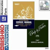 1967 Chevrolet Corvette Shop Service Repair Manual CD Engine Drivetrain Wiring