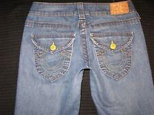 True Religion Jeans Women Billy Low Straight Leg Flap Pocs Sz 26