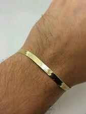 "14k Solid Yellow Gold High Polish Herringbone Bracelet 7"" 5.0mm Women"
