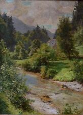 Reinhold KUKLA (1877-1965)   Gebirgige Landschaft mit Fluss