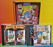 3 Game PC Lot Sonic R, 3D Blast, Twin Pack Hedgehog Sega Smash Pack 1 and 2 Lot