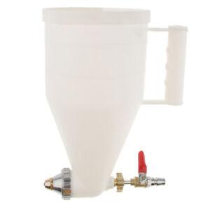 Pneumatic Air Texture Spray Gun 0.9 Gallon Hopper Plastic