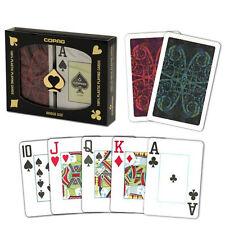 New COPAG 100% Plastic Playing Cards Aldrava Red Blu Bridge Jumbo Index FREE CUT