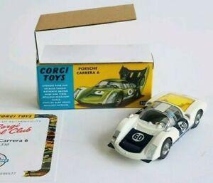 Corgi Model Club No.330 Porsche Carrera 6 BNIB reissue MIB limited edition