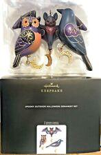 Halloween 2020 Hallmark Keepsake Ornament Set Spooky Outdoor Owl Bat Raven NWT