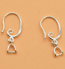 10pcs DIY Silver Hook Earring Earwire Jewelry Finding Accessories Wholesale