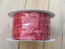 """Stampin' Up! Riding Hood Red Pleated Satin Ribbon NEW 3/8"""", 1 cm approx. 5 yards"""