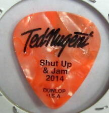TED NUGENT 2014 Shut Up and Jam tour guitar Pick American Flag on back