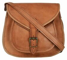 New Women's Vintage Genuine Brown Pure Leather Messenger Shoulder Cross Body Bag