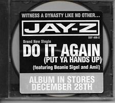 JAY-Z Do It Again (Put Ya Hands Up) promo cd sin w/instrumental ver