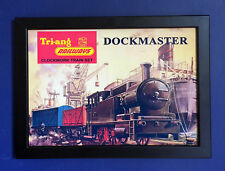 Triang Railways RS 70 Dockmaster Train Set 1966 A4 Size Framed Poster Shop Sign