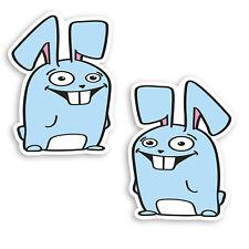 Bunny rabbit cute drôle vinyle sticker autocollant voiture van vélo camper wall art kid A18
