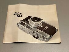 Leica M4 Camera 8 x 8 in Brochure, 12 Page, 1967 Approx