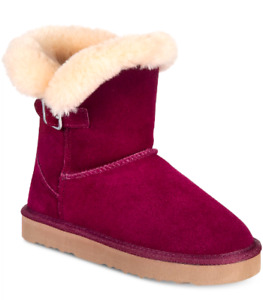 NEW Style & Co Women's Tiny Shearling Style Boots Size 9 M Wine $69.5