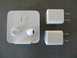 Apple Earphones and Charging Blocks