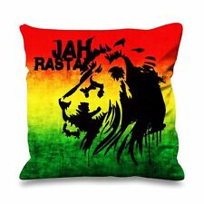 Jah rasta fausse soie 45cm x 45cm canapé coussin-reggae rastafariennes bob marley
