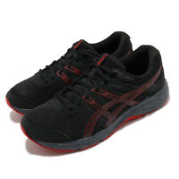 Asics Gel-Contend 6 Black Classic Red Men Running Shoes Sneakers 1011A667-004