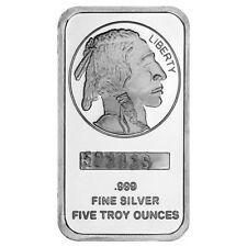 5 oz SilverTowne Buffalo Silver Bar (New)