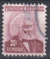 USA Briefmarke gestempelt 25c Frederick Douglass  / 1744