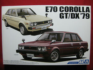 Toyota Corolla GT/DX 1979 KE70 DX TE71 1600GT 1:24 Aoshima Japan Model Kit E70