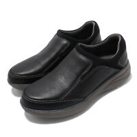 Clarks Un Rise Step Black Tumbled Leather Men Casual Slip On Loafers Shoes