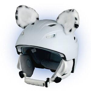 Helmohren Leopard für Helm Ohren Helmet Ears Skihelm Schneeleopard Ear Snow Ski