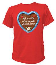 T-Shirt UNISEX Herz - Dezent alkoholisieren - Oktoberfest Wiesn Party JGA Saufen