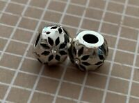 Brighton Daisy Flower Mini Crystals Silver Spacer Earrings Mini Bead-Lot Of 2