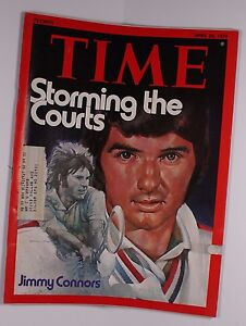 Time Magazine April 28 1975 Tennis Star Jimmy Connors art by Barron Storey  M313