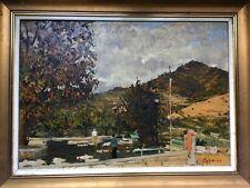 Gorgeous, Marsiglio Caprino (1923-1986) Italian painter - Oil on wood - Petanque