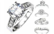 White Gold Plated Fashion & Promise Rings CZ sizes 6-9 - Many Styles Available!