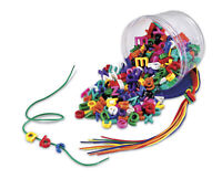 Lowercase Lacing Alphabet - Children's Plastic Threading Letters for Spelling