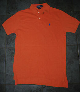 Ralph Lauren - Mens Small Smart Dusk Orange Classic Summer Cotton Polo Shirt