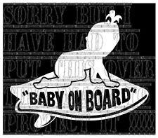 Bébé à Bord fille Vans Planche De Surf Surfeur Surf Autocollant Vinyle Signe Couleur Blanc