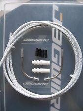 Jagwire -braided White Cgx-sl Outer Brake Cable - 2 Metres Plus End Ferrules