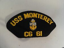 MILITARY HAT PATCH US NAVY SHIP USS MONTEREY CG 61