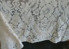 "Vintage Rect Quaker Lace Dinner Holiday Tablecloth Ivory 56""x74"" #6010 w Tags"
