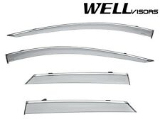 WellVisors Side Window Visors Deflectors W/ Chrome Trim For 17-Up Cadilac XT5