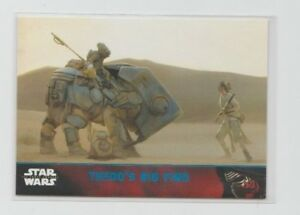 Star Wars The Force Awakens Series 1 Trading Card Blue Parallel #75